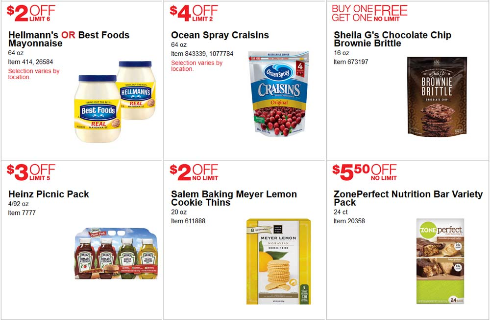 Popular June Costco Coupon Book Page