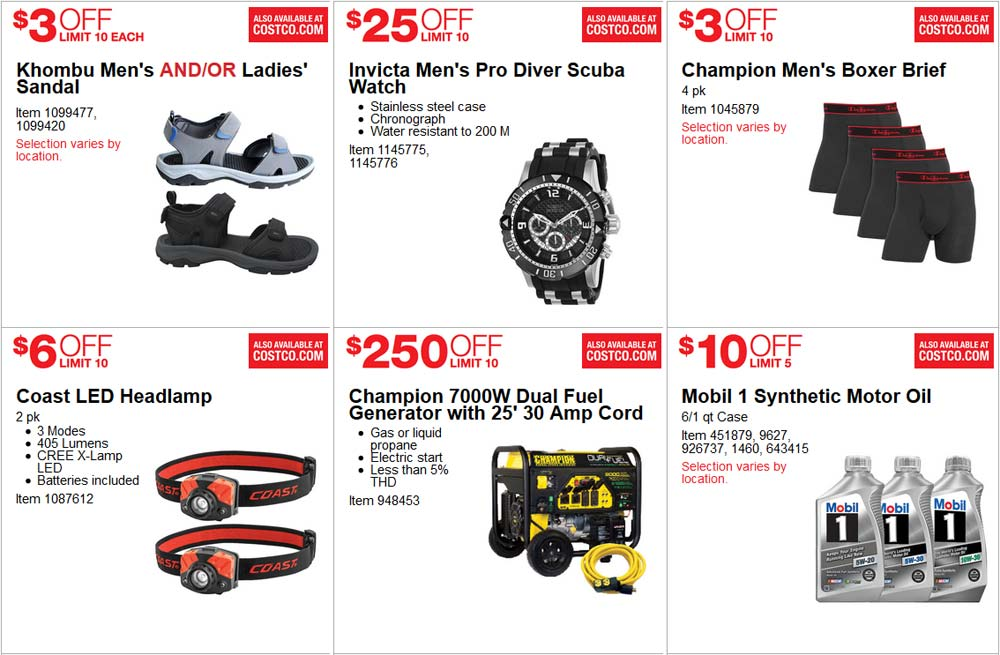 Spectacular June Costco Coupon Book Page