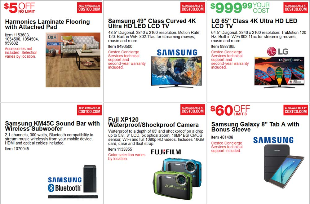 Epic June Costco Coupon Book Page