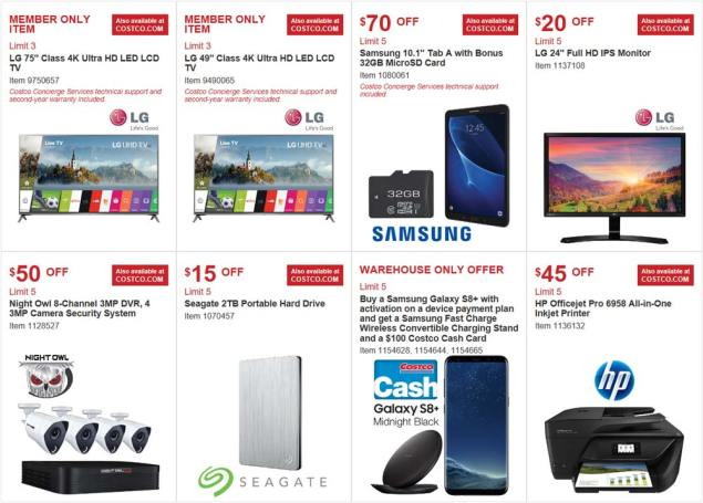 Costco August 2017 Coupon Book Page 2