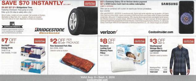 Costco August 2018 Coupon Book Page 9