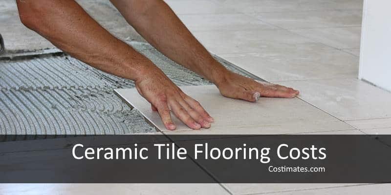 ceramic tile floor costs materials