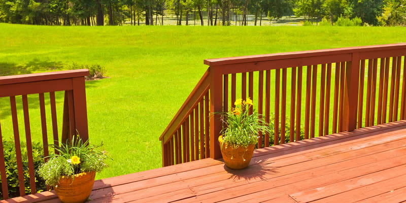 cost of wood deck railing installation