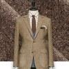 Blazer Marron Tweed sur-mesure Paris