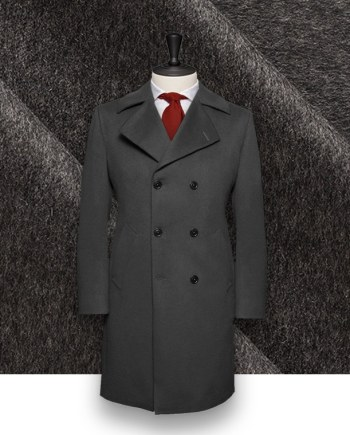 manteau caban gris anthracite