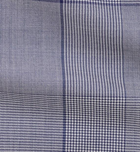 Costume Bleu Prince de Galles clair tailleur costume privé paris