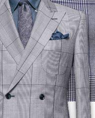costume-bleu-prince-de-galles-contraste-costume sur mesure-zoom