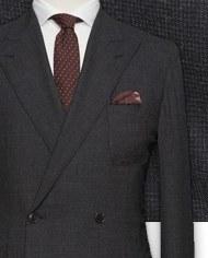 costume-gris-texture-costume sur mesure-zoom