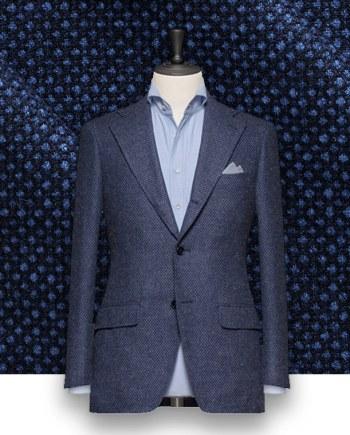 Blazer Bleu caviar tailleur paris costume privé paris