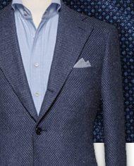 blazer bleu caviar costume sur mesure zoom