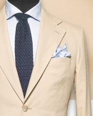 Costume beige uni costume sur mesure zoom