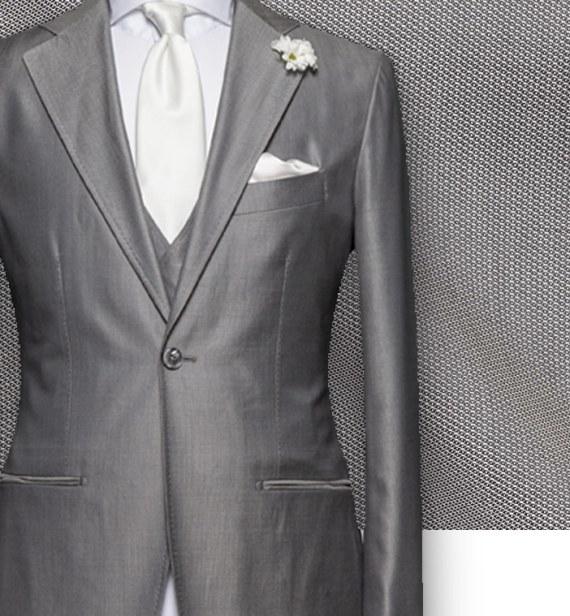 costume cérémonie gris argent sur mesure