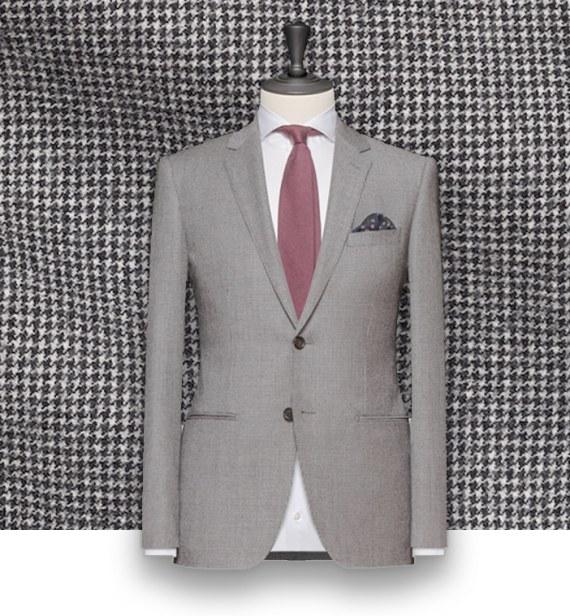 costume gris pied de poule sur mesure tailleur paris