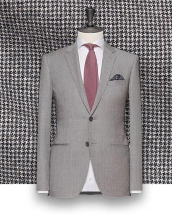 costume gris pied de poule costume sur mesure tailleur paris