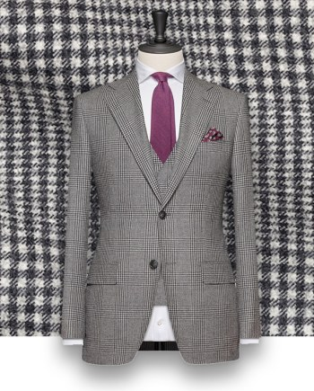Costume Cérémonie gris Prince de Galles champêtre costume sur-mesure