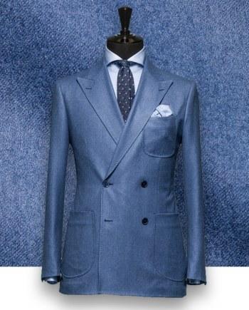 Blazer bleu clair croisé