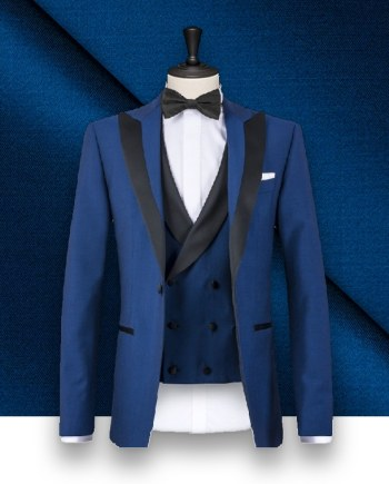 Smoking bleu intense sur-mesure tailleur paris