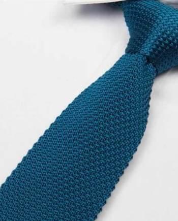 cravate tricot bleu indigo maille cravate italienne