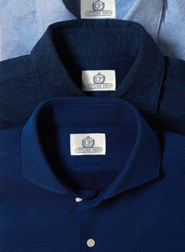 chemise coton jersey sur-mesure costume privé paris