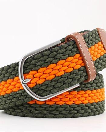 ceinture tressée orange vert