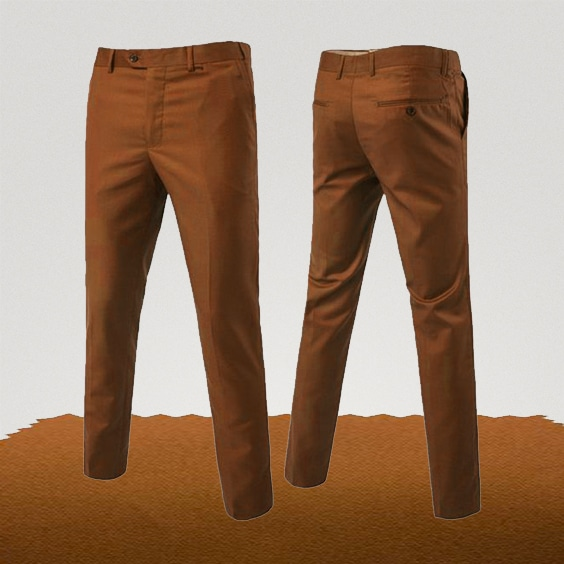 pantalon chino orange abricot homme