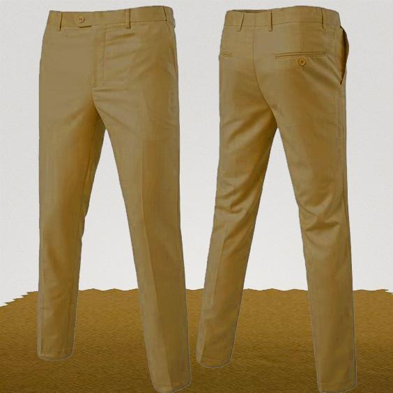 Pantalon chino couleur ocre golf mariage cérémonie homme