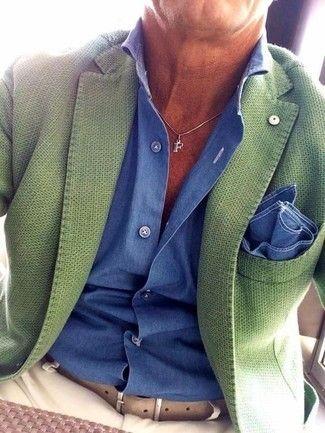 blazer veste vert sur-mesure paris