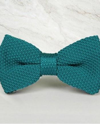 noeud papillon tricot vert canard mariage cérémonie maille tricot