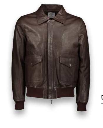 Blouson cuir marron A2 bomber cuir sur mesure Costume Privé Paris