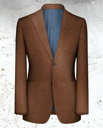 Veste marron orange sur mesure tailleur paris