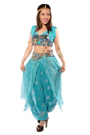 Belly dancing Turquoise Costume