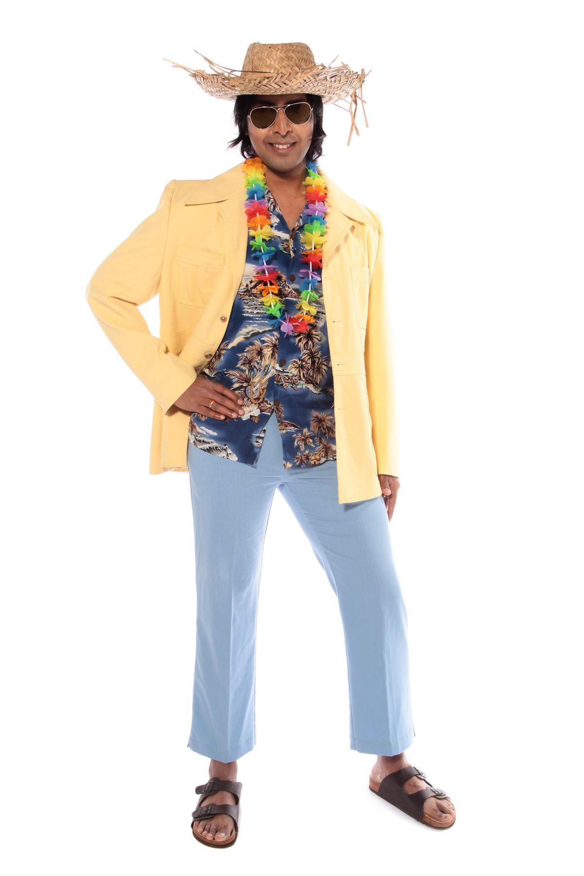 HAWAIIAN HOLIDAY COSTUME W YELLOW RETRO JACKET