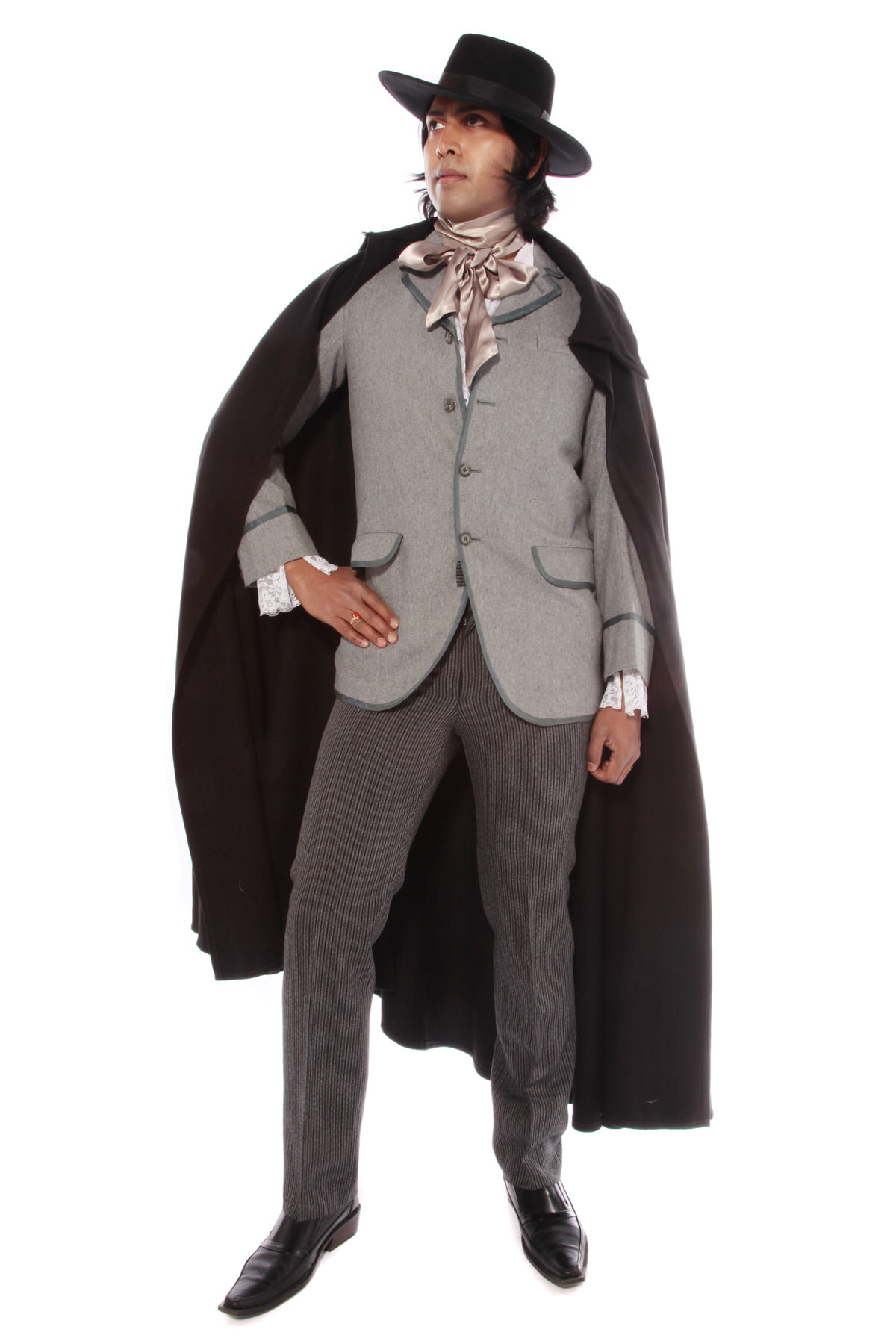 OSCAR WILDE FLAMBOYANT COSTUME W FANCY FRILLY SHIRT
