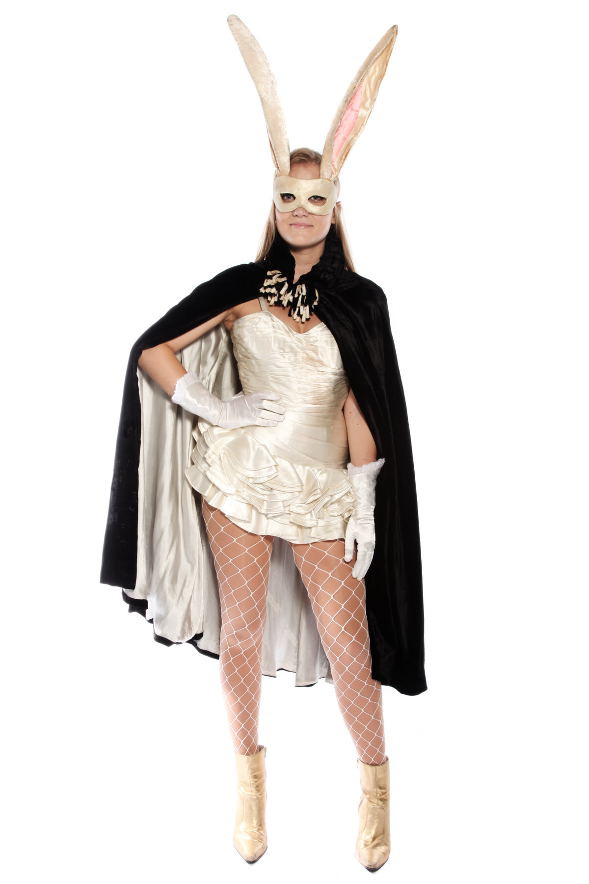 BURLESQUE SCARY BUNNY  COSTUME WITH BIG EARS