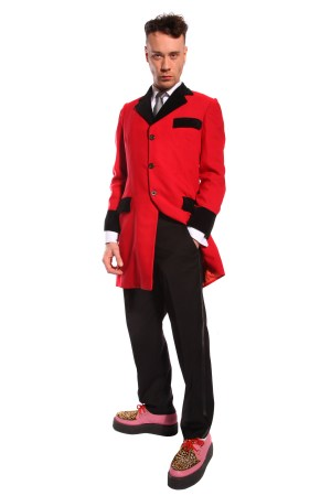 RED AND BLACK TEDDY BOY COSTUME