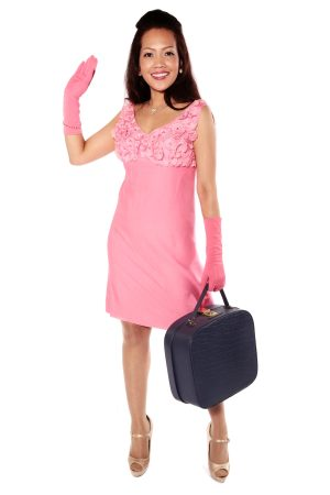 PINK 60s MINI DRESS COSTUME