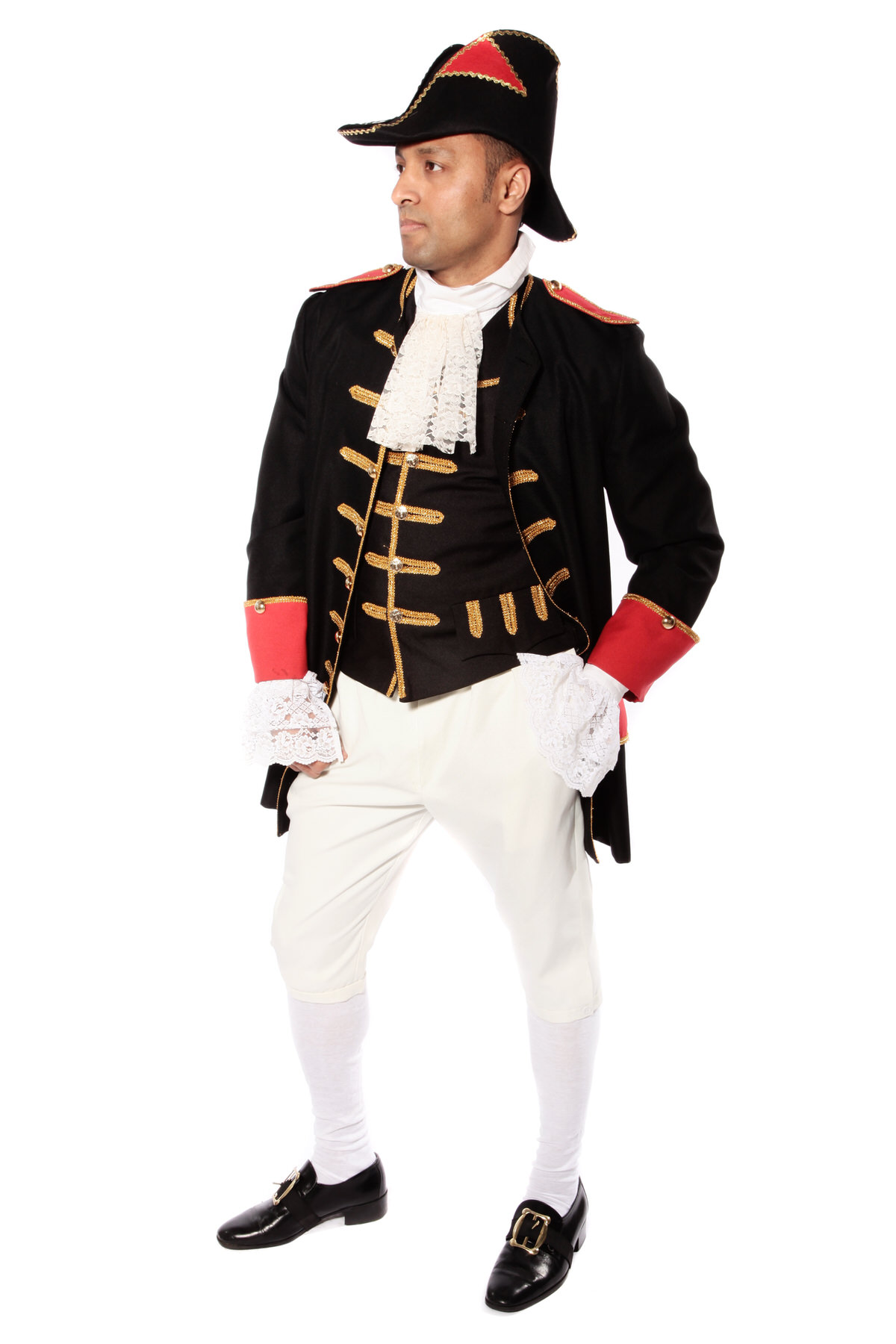 BLACK GOLD AND RED NAPOLEONIC STYLE COSTUME