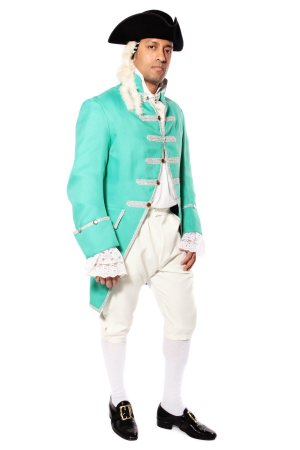 GEORGIAN/REGENCY COURTIER TURQUOISE COSTUME
