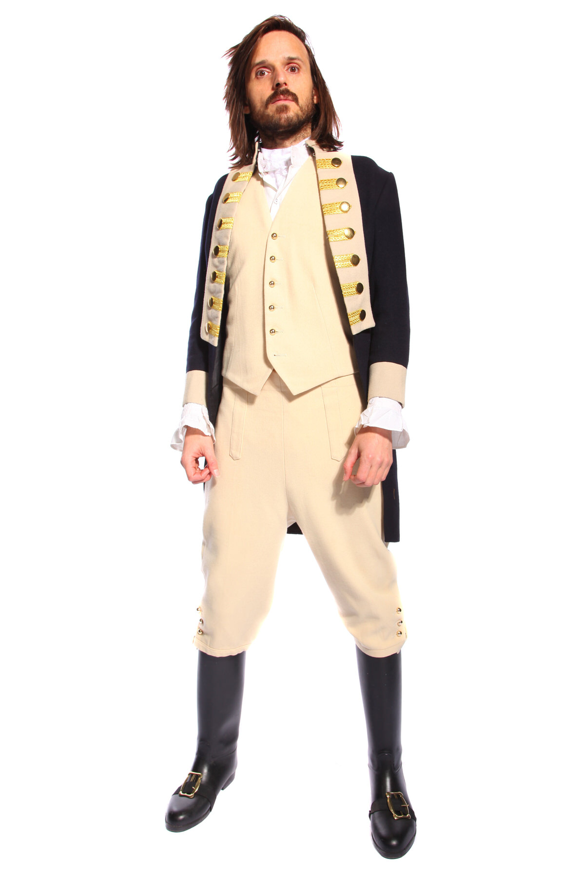 REGENCY NAVAL UNIFORM COSTUME W MATCHING WAISTCOAT