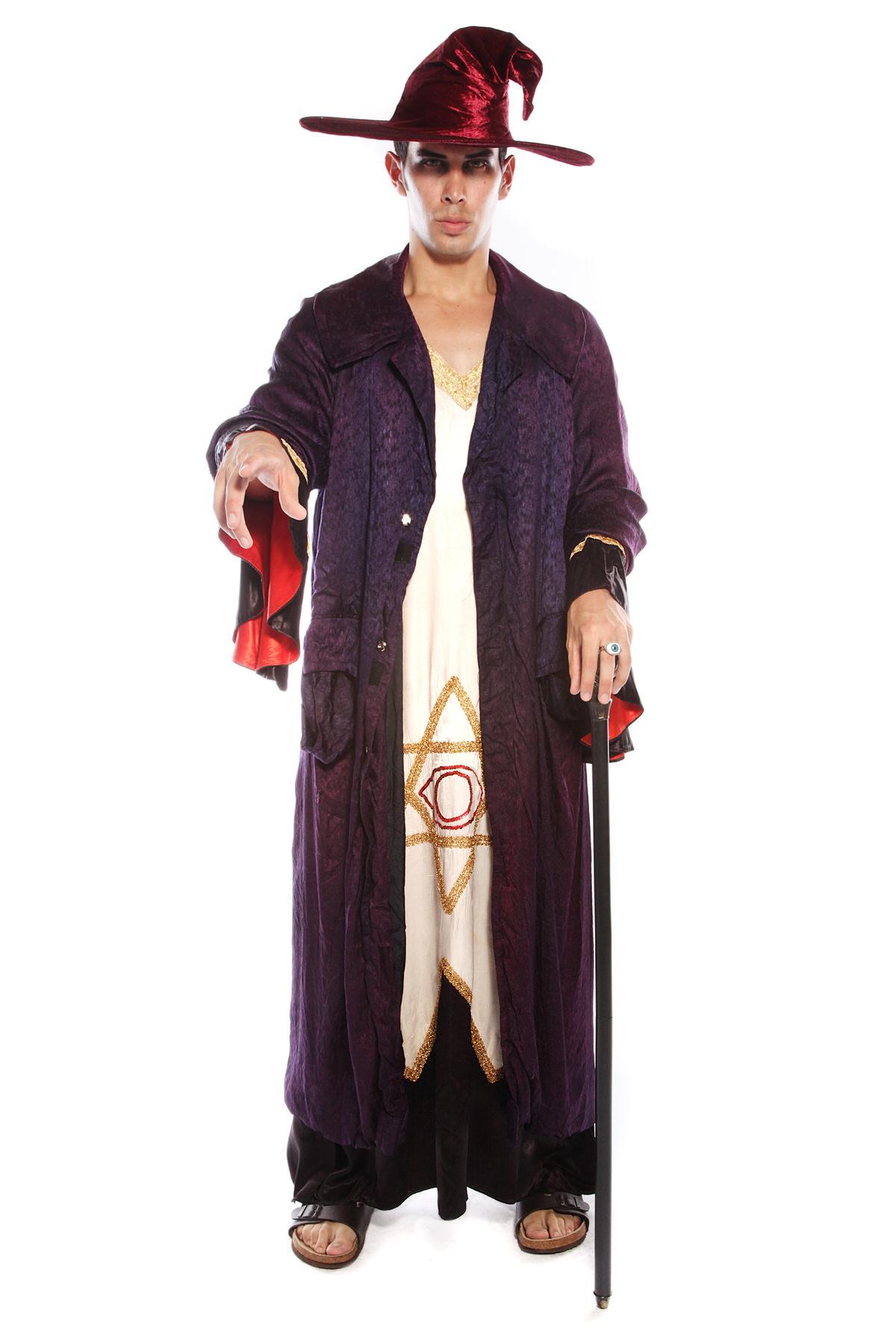 MAGICIAN WIZARD SORCERER LONG COSTUME
