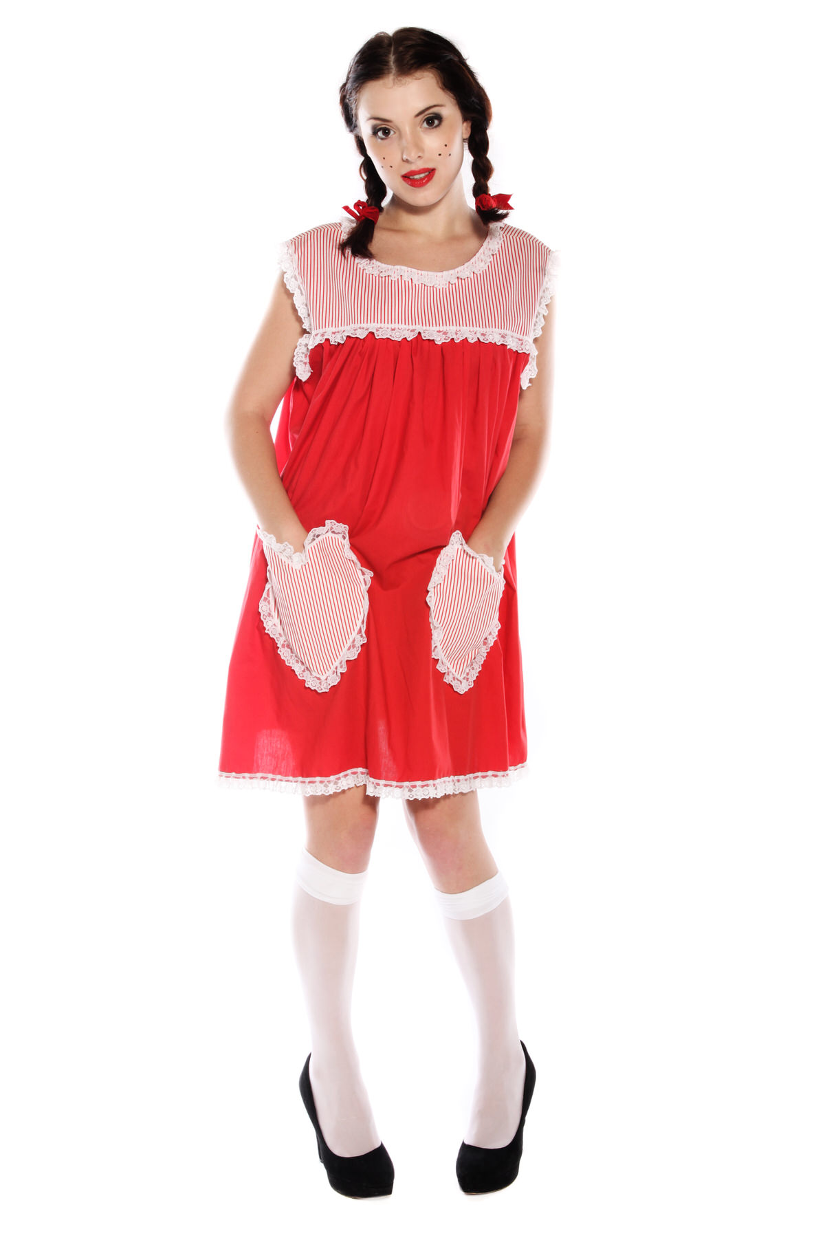 MARY JANE RAG DOLL COSTUME WITH WHITE SOCKS