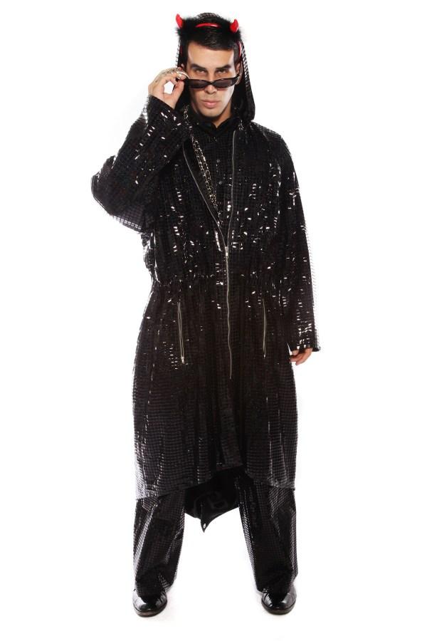 MATRIX DEVIL LONG BLACK SEQUIN COAT