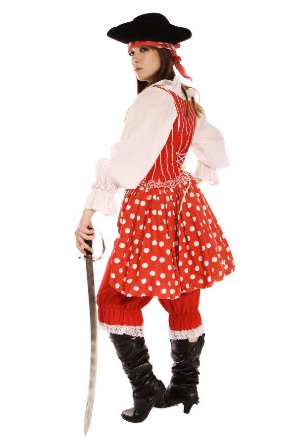 BUCCANEER GIRL RED POLKA DOT COSTUME back