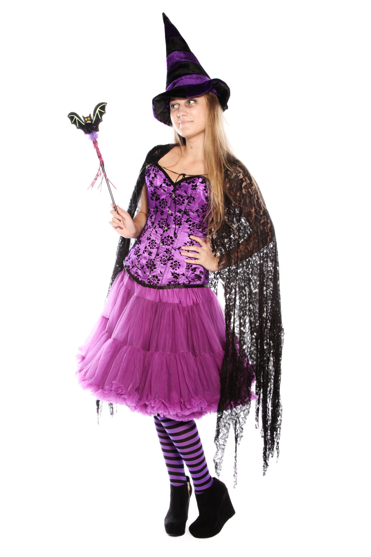 PURPLE FROU FROU PETTICOAT WITCH COSTUME