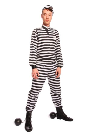 PRISONER STRIPED COSTUME