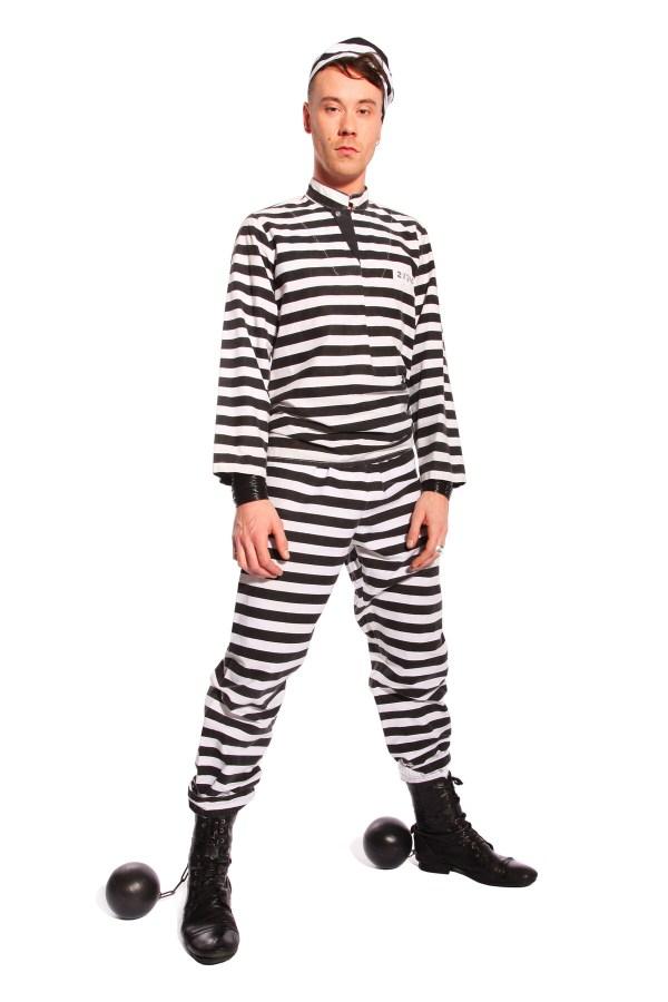 PRISONER STRIPED COSTUME