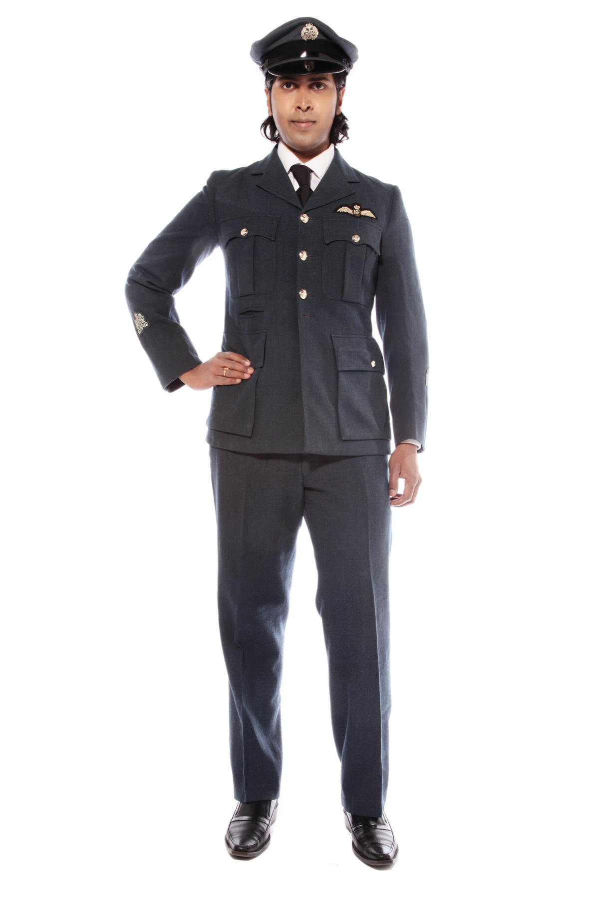 AIR FORCE PILOT COSTUME WITH PEAKED CAP