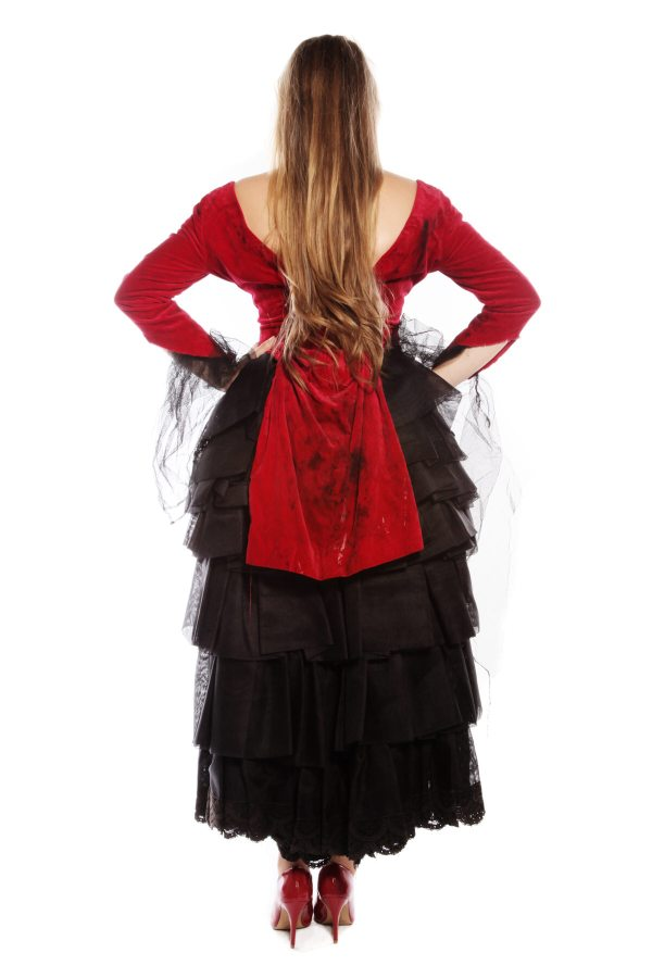 Victorian bustle gothic lady Back