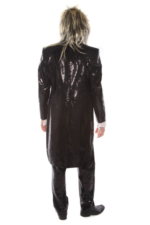 ZOMBIE LABYRINTH BLACK SEQUINNED COSTUME BACK