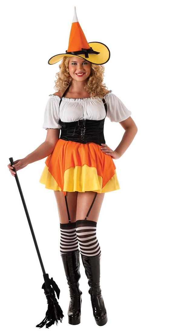 Black And Orange Witch Costume